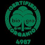 Bio Gor Certified Organic Green Logo